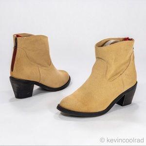 Skechers Ankle Cowboy Boot Booties Tan